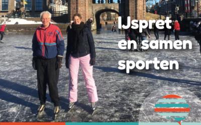 IJspret en samen sporten